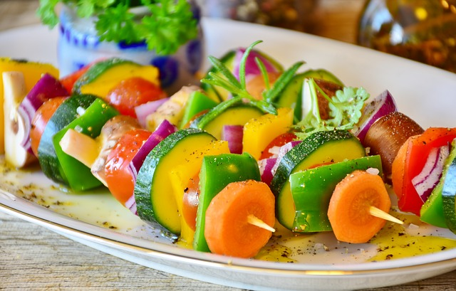 picture of veggie skewers
