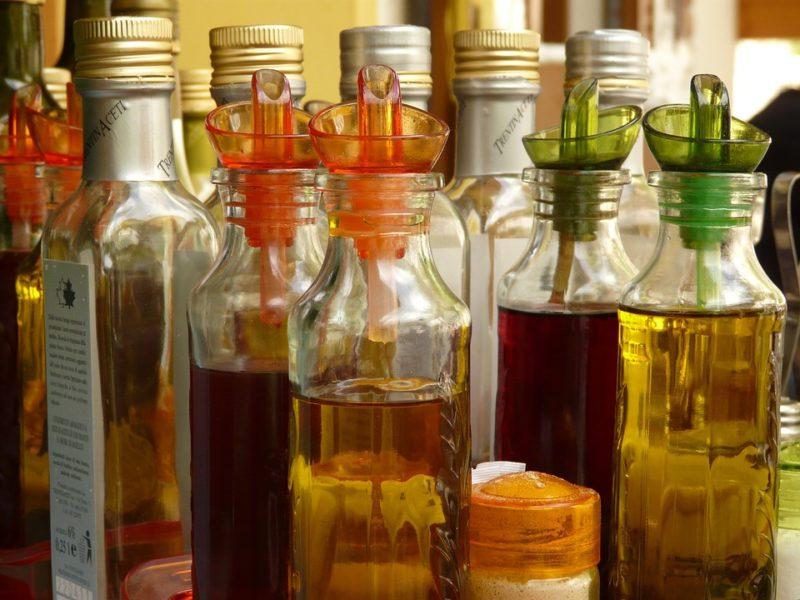Picture of bottles of vinegar